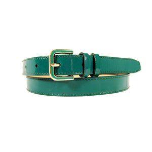 COLE HAAN Teal Patent Leather Enamel Buckle Belt L